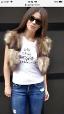 Adrienne Landau Raccoon Crop Fur Vest S