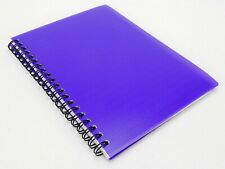 "5"" X 7"" Spiral Notebook, Double Wire Binding, Purple Plastic Cover, 70 Sheets"
