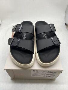 Papillio by Birkenstock Women Arizona Pap Chunky Black Sandals EU38 Cy779