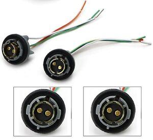 Universal Pigtail Wire Female Socket 1157 U Two Harness Stop Brake Repair Plug