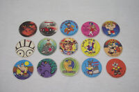 Lot de 15 jetons Slam BIG JOE surf J&K 1995 (Caps/Tazo/Paddles/Comic Shell/pog)