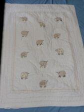 Pottery Barn Kids Crib Quilt Blanket Sweet Lambie Sheep Patchwork Tlc