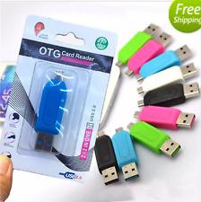 Lector de tarjeta de memoria Micro USB OTG a USB 2.0 Adaptador; USB 2.0 SD/Micro SD Tarjeta de Reino Unido