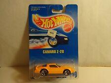 Hot Wheels Orange Camaro Z-28 w/ 3 spoke wheels Pkg # 449 MIP