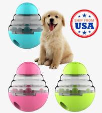 Dog Toy Interactive Tumbler Pet Food Treat Dispenser Feeder Ball Puzzle Bowl