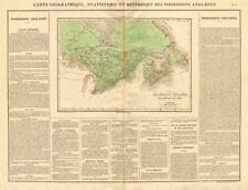 """""""posesiones Anglaises de l 'Amerique du Nord"""". Nueva Bretaña. Buchon 1825 Mapa"""