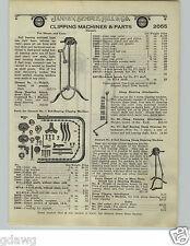 1924 PAPER AD 4 PG Stewart Horse Sheep Clipping Shearing Machine Hand Power Elec