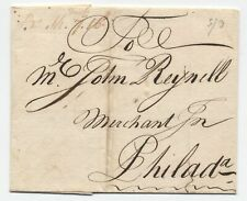 1758 Boston MA manuscript stampless 7.16 ship rate plus PA currency [45.32]