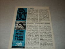 G229 DICK RIVERS '1964 FRENCH CLIPPING