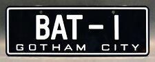 Batman / 1966 Batmobile / BAT-1 *METAL STAMPED* Replica Prop License Plate