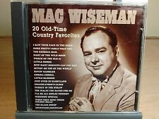 Mac Wiseman - 20 Old-Time Country Favorites Promo CD ~ Used, VG