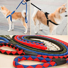 Dog Harness Leash Collar Set Nylon Rope Heavy Duty Pet Hand Strap S/M/L/XL/XXL
