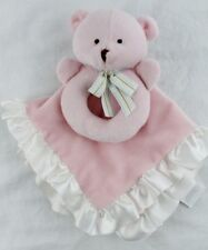 CARTERS Pink Bear Ring Rattle Lovey Security Blanket