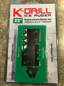 """K-DRILL Ice Auger 7.5"""" Replacement Blade Kit IDRLBL75 Also fits 8"""" IDRLBL8 Drill"""