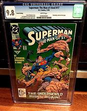 Superman Man of Steel #17 2nd print CGC 9.8 Death LOW PRINT RUN Doomsday 1 st NM