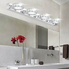 Bathroom K9 Crystal LED Mirror Light Stainless Steel Wall Sconce Lamp AC85-265V