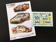 DECAL 1:43 FORD RS 200 Gr. B #4 J. PURAS /T. AGUADO-RALLYE TIERRA DE MADRID 1989