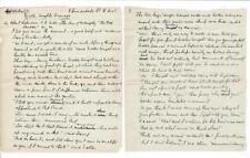 Late 1880's British Author Robert Richardson 10 page manuscript; dialogue rare