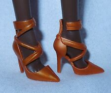 SHOES ~ BARBIE BASIC DOLL MODEL MUSE BRONZE POINT TOE THE LOOK MATTEL HIGH HEEL