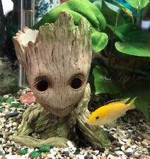 Cute Cartoon Tree Man Aquarium Ornament Resin Fish Tank Cave Stone