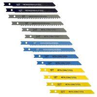 14 PIECE ASSORTED UNIVERSAL JIG SAW BLADES PACK Jigsaw Sabre Wood Metal Shank