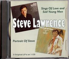 STEVE LAWRENCE - SINGS OF LOVE AND SAD YOUNG MEN/PORTRAIT OF STEVE CD 2001 GL