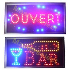 PANNEAU ENSEIGNE LUMINEUSE A LEDS OUVERT / BAR POUR COMMERCANT PUB  Pas Cher
