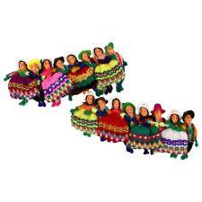 Lot 6 Worry Doll Barrette Hair Tie Head Wholesale Pack Assorted Peru Artisan