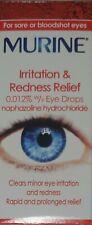 (2 PACKS) Murine Irritation & Redness Relief Eye Drops - 10ml