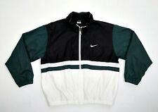 VINTAGE 90's NIKE White Tag Windbreaker Jacket Pullover Swoosh White Black sz. L