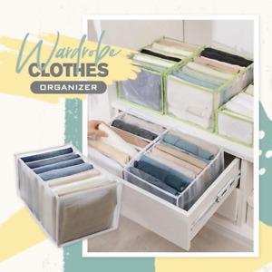 7 Grids Wardrobe Clothes Organizer GARMENT ORGANIZER STORAGE UNIT CLOTHES TIDY