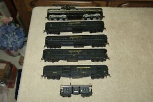 "Vintage 1950-60's Lot HO Passenger Train ""Weeville Western"" Athearn, Brass Body"