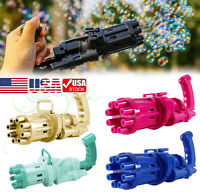 Gatling Bubble Machine Bubbler Maker Children's Automatic Bubble Blowing Toy Gun