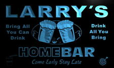 p029-b Larry's Personalized Home Bar Beer Family Name Neon Light Sign