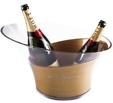 Moet & Chandon Imperial Champagner Eis Kühler Kübel XXL gold transparent Acryl