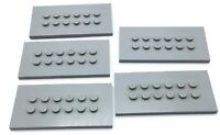 LEGO LOT OF 5 LIGHT GREY LARGE FIGURE DISPLAY STAND PIECES MINIFIGURE PLATES