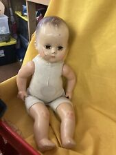 """Vintage 18"""" Composition R&B, Arranbee Doll Baby Brown Blinking Eyes Molded Hair"""