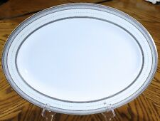 "Ralph Lauren SILK RIBBON PEARL 15 1/2"" Oval Serving Platter 6707662 new"