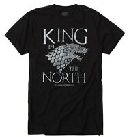 Game Of Thrones KING IN THE NORTH Stark Direwolf T-Shirt NWT Licensed & Official