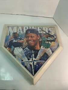 Nice Ken Griffey Jr.  Full Size Home Plate Art Autographed (See Notes) As Is!