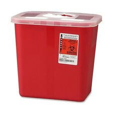 2 Gallon SHARP Needle Disposal Container Lid tattoo Sharps - LOT OF 10!!