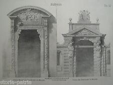 ARCHITETTURA_MILANO_PORTE BAROCCHE_DUOMO_SEMINARIO_BELLA ANTICA STAMPA_VALLARDI