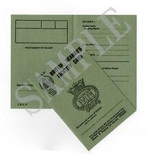 WW2 NAVAL IDENTITY CARD  (Exact Copy)