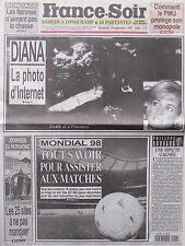 ▬► Journal France Soir 19/09/1997 Lady Diana Georges Guétary Serge Reggiani