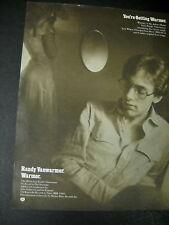 Randy Vanwarmer Gets Warmer 1979 Promo Poster Ad mint