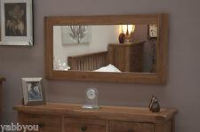 Oak Rustic Matured Oak Mirror 120cm x 64cm Bevelled Glass 100% Solid Oak