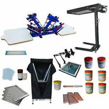 4color Screen Printer Press Kit Flash Dryer Exposure Dryer Oven Diy Material New