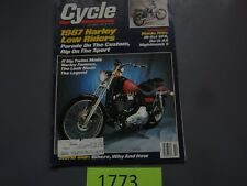 OCTOBER 1986 CYCLE MAGAZINE HARLEY LOW RIDERS, HONDA 700S, VFR, NIGHTHAWK S