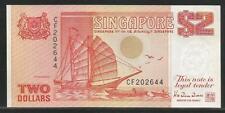 Singapore P-27 2 Dollars 1990 Unc