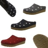 Haflinger Grizzly Stelline House Clogs Mules Wool Felt Slippers Women NEW Scuffs